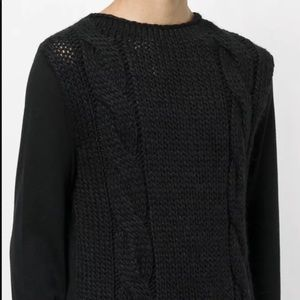 Balmain Men's Loose Knit Pullover Size L
